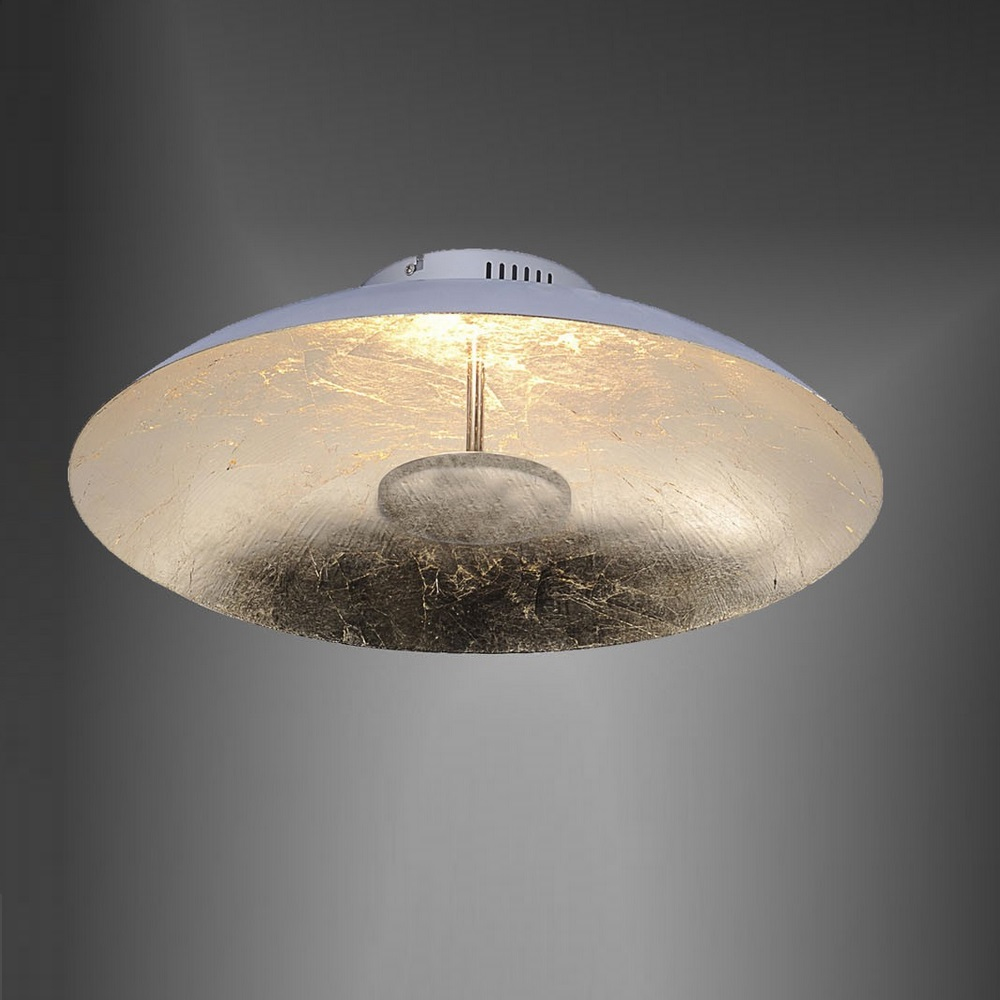 led deckenleuchte 50cm mit blattgold deckenlampe leuchte lampe 25 watt 2000lm ebay. Black Bedroom Furniture Sets. Home Design Ideas