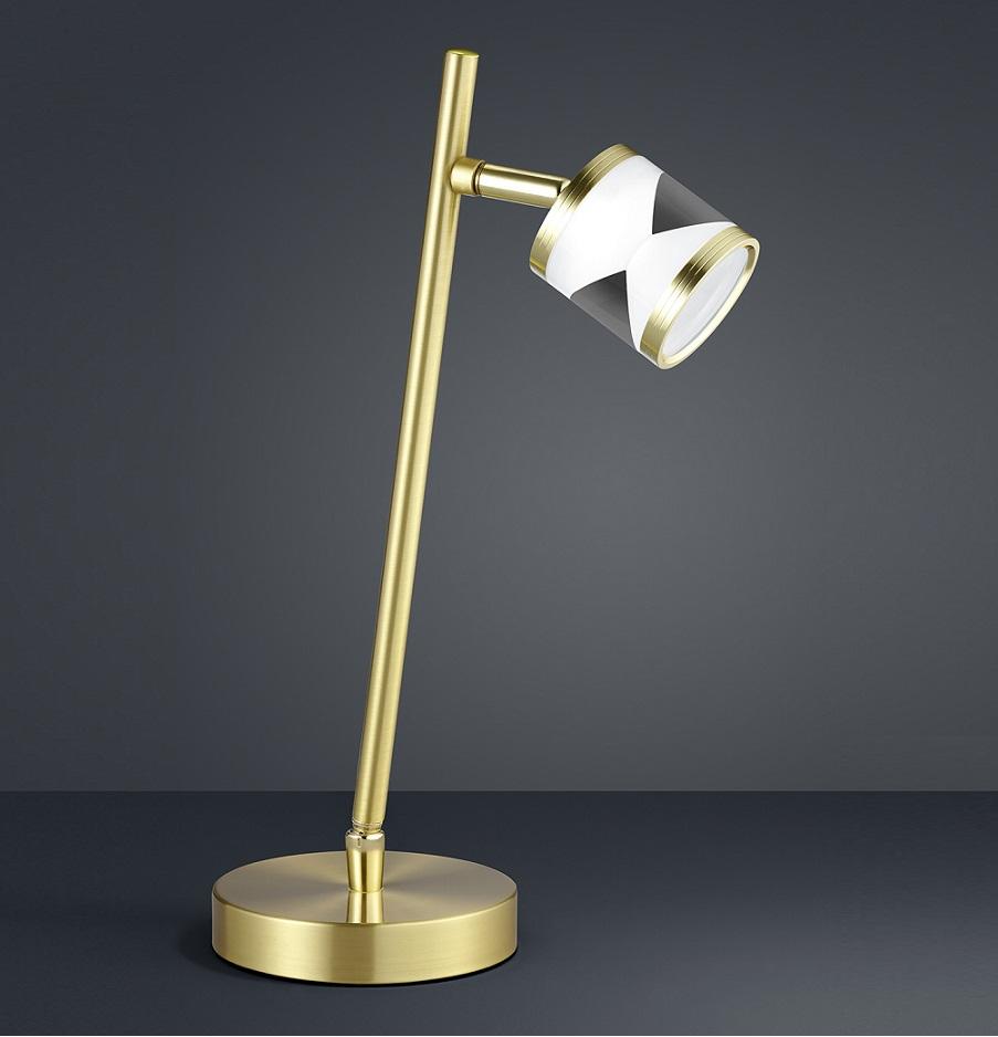 LED Tischleuchte schwenkbar Messing matt Tischlampe Leuchte Leselampe Büro Lampe   eBay