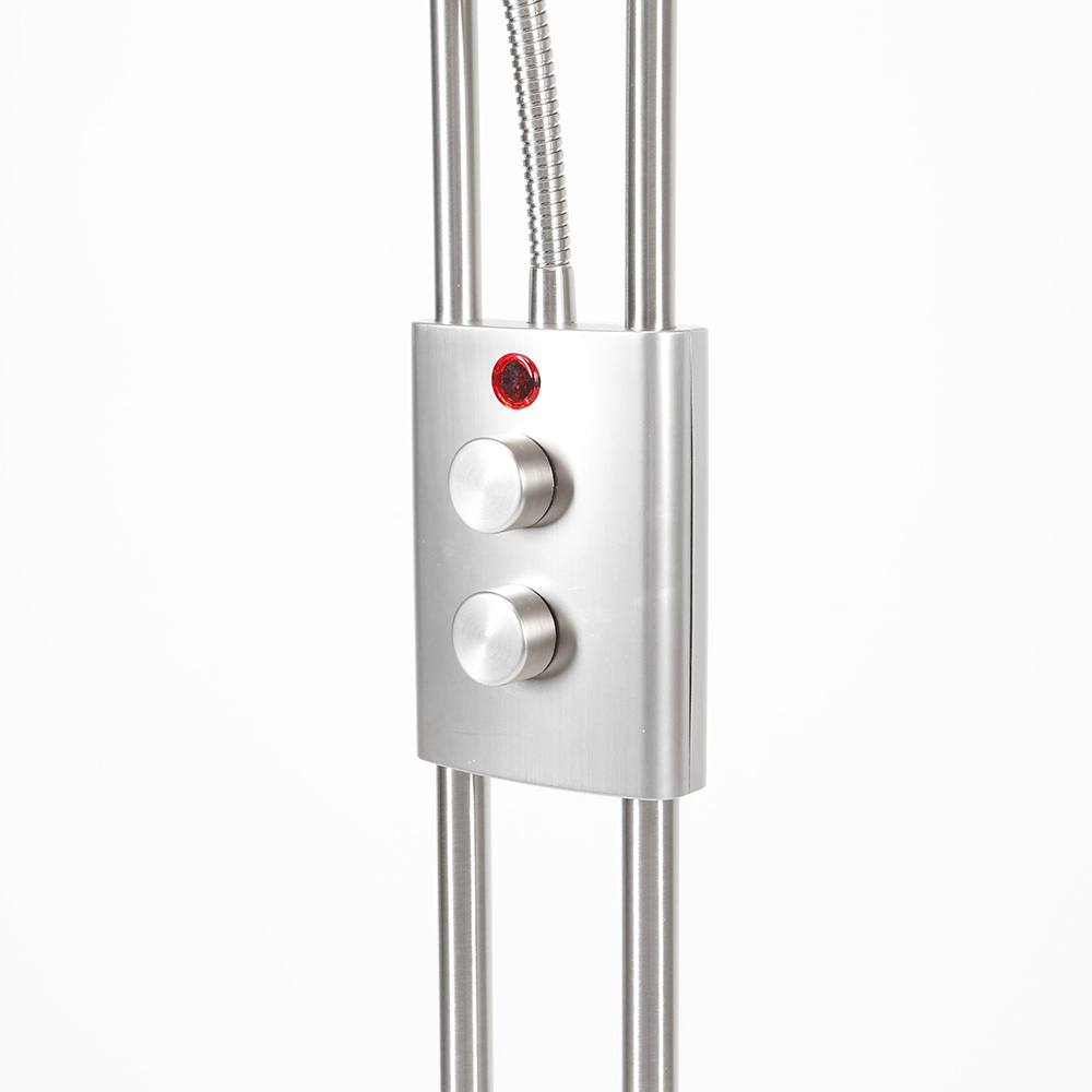 deckenfluter led mit lesearm stehlampe stehleuchte fluter rgb fernbedienung neu 4250237282847 ebay. Black Bedroom Furniture Sets. Home Design Ideas