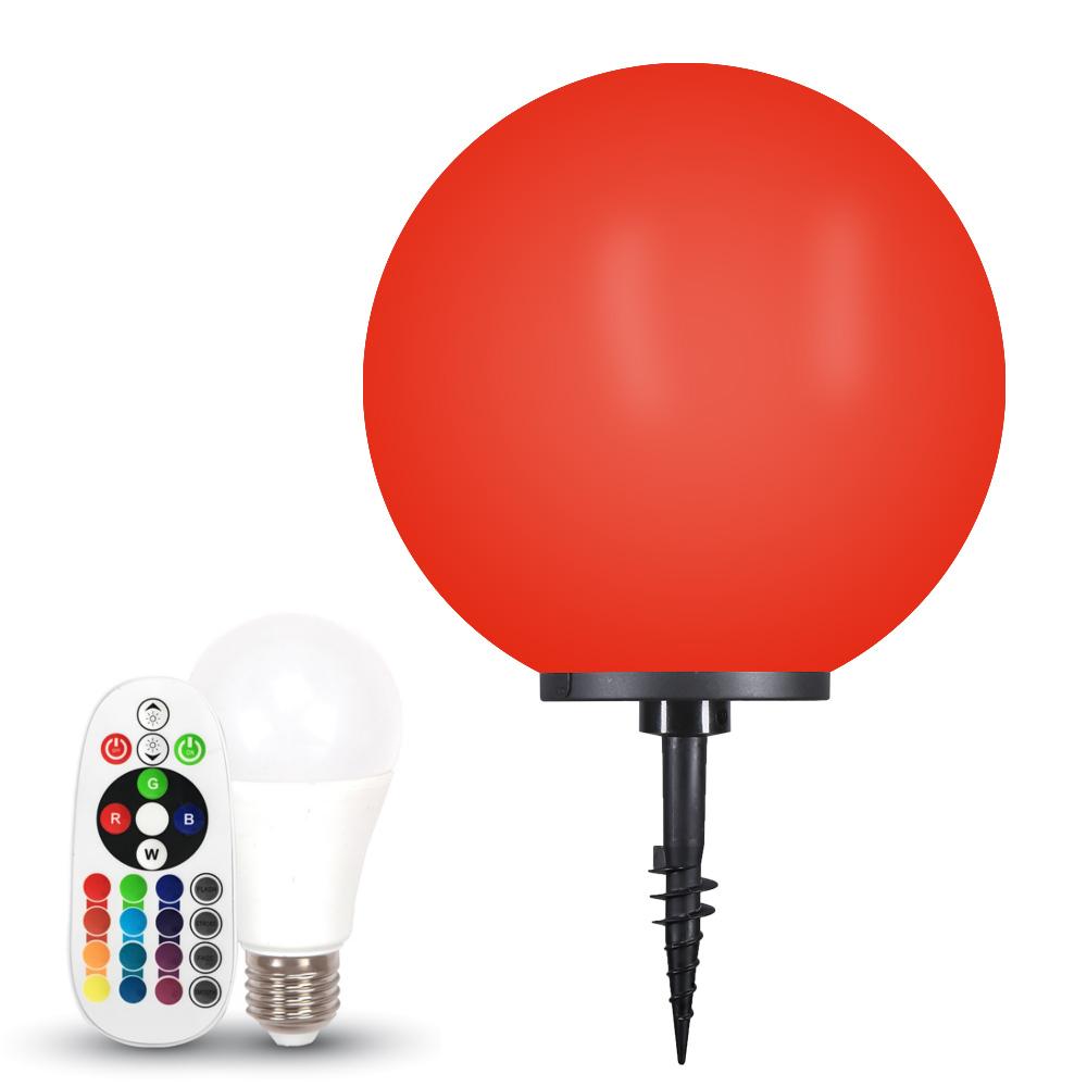 Kugelleuchte Ø50cm Erdspieß Leuchte LED Garten Lampe Außen RGB Farbwechsel