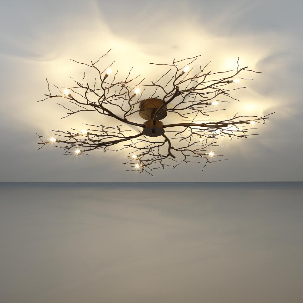 deckenleuchte 110 2cm tree lamp xl braun deckenlampe. Black Bedroom Furniture Sets. Home Design Ideas